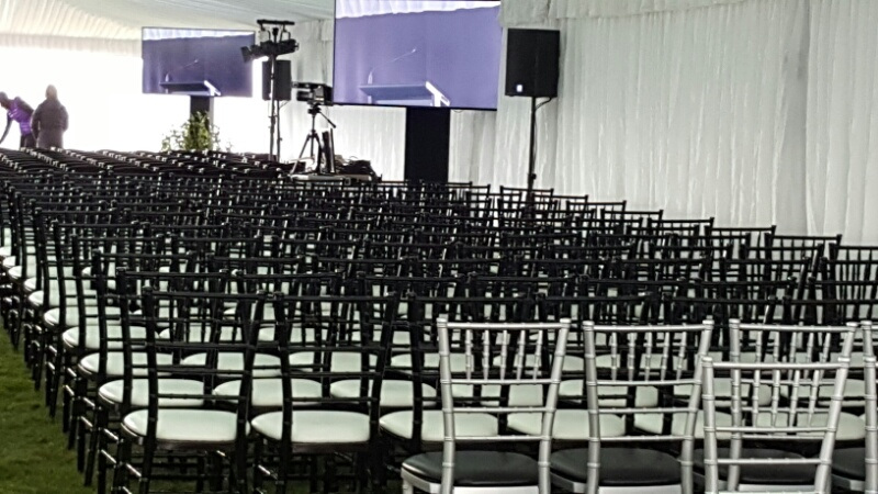 Silver & Black Chaivari Chairs
