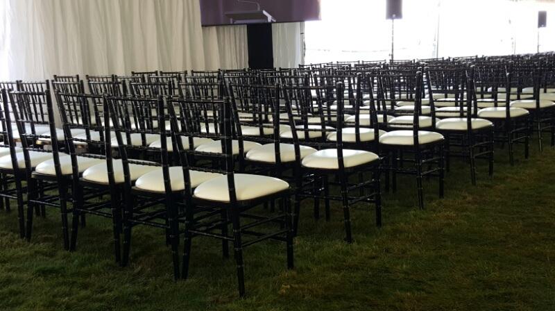 Silver & Black Chaivari Chairs