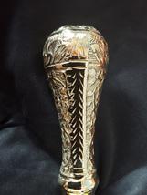 Cane 7 - Sheesham  Wood Walking Cane with Brass Round Handle Type 1