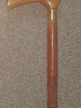 Cane 13 - Sheesham Wood Walking Cane with Hand Carved Circular Artwork.