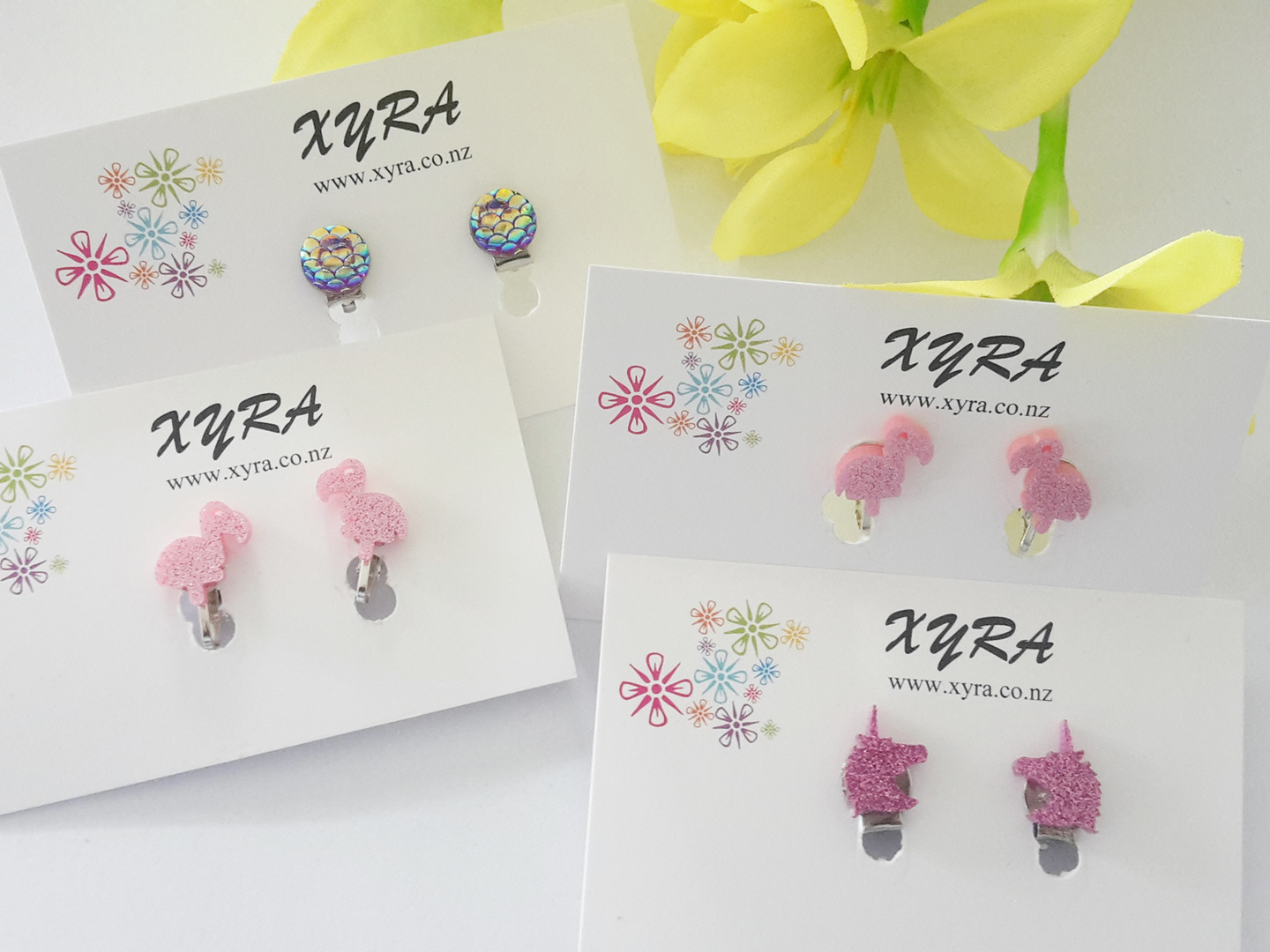 Clip-on Earrings for kids and teens - so many designs to choose from.