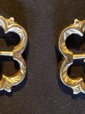 Pair of Medieval Brass Flower Buckles