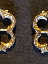 Pair of Medieval Brass Flower Buckles