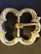 Single Medieval Brass Flower Buckle
