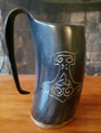 Drinking Horn Type 48  - Tankard with Mjolnir (Thor's Hammer)