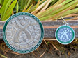2020 Lackey Geocoin and Tag Set - Antique Silver
