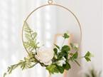 20cm Ivory Floral Hoop Wedding / Engagement / Party Decor