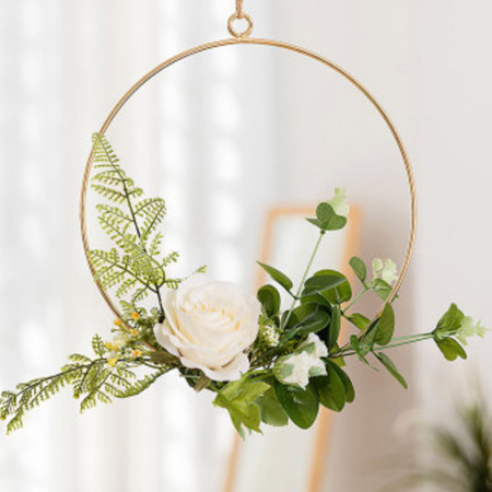 20cm Ivory Floral Hoop Wedding / Engagement / Party Decor