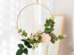 20cm Peach Floral Hoop Wedding / Engagement / Party Decor