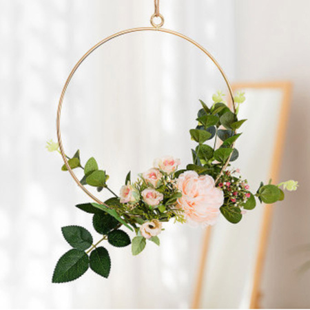20cm Peach Floral Hoop Wedding / Engagement / Party Decor