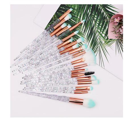 20pc Glitter Makeup Brush Set