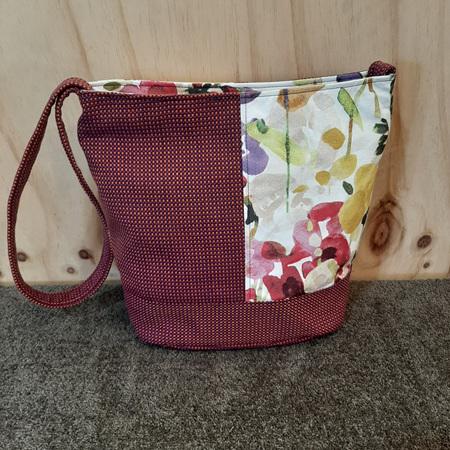 #21 Floral + Pink Gili Bucket Style Bag