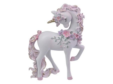 21cm Unicorn w/Flowers and Glitter