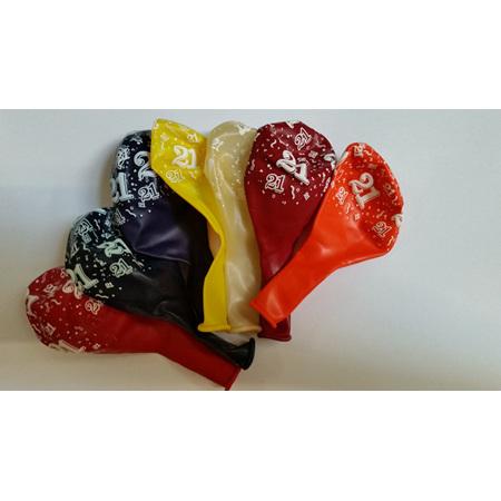 21st Birthday Balloons - price per balloon