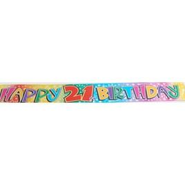 21st Birthday Foil Banner