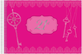 21st Birthday Pink Keepsake Book