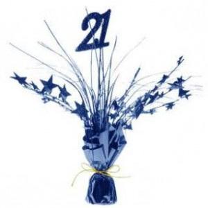 21st Birthday table centrepiece