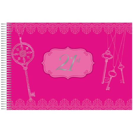 21st pink signature book