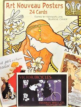 24 Art Nouveau Posters Cards