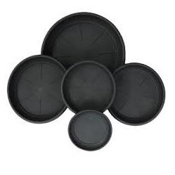 25 cm Black Saucer