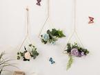 25cm Dusty Purple Flower Triangle Hoop - Purple