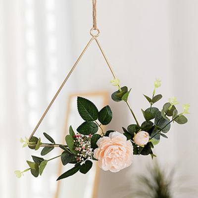25cm Peach Flower Triangle Hoop Wedding / Engagement / Party Decor