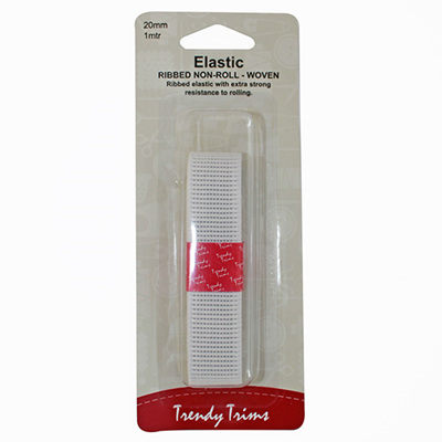25mm Ribbed Non-Roll Woven Elastic 1m