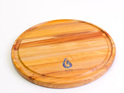 280 round board with groove and paua - rimu - made in nz