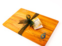 280 x 180 x 14 mm cheese board rimu with paua hook