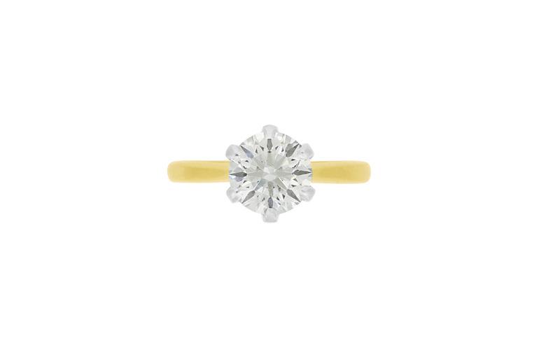 2.012ct brilliant diamond solitaire engagement ring
