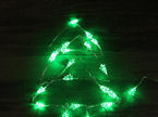 2m 20 Christmas Tree Silver Wire Seed Fairy Lights - Warm White