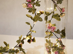 2m 20 LEDs Pink Rose Garland Copper Wire Seed Fairy Lights - Warm White