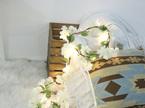 2m 20 LEDs White Hydrangea Garland Battery Fairy Lights - Warm White