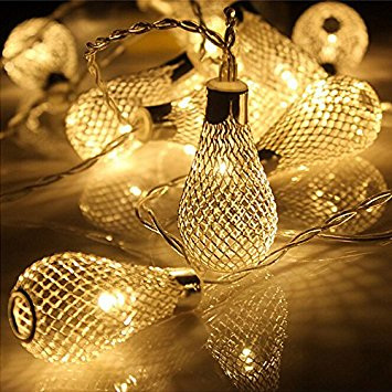 2m 20 Mesh Light Bulb Fairy Lights Warm White Party