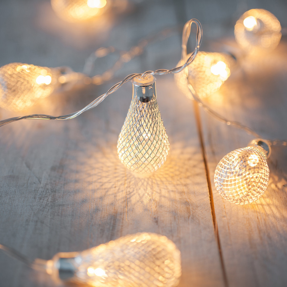 Light Bulb String Lights Nz : 2m 20 Mesh Light Bulb Fairy Lights - Warm White - Party Lights Company