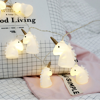 2m 20 Unicorn Battery Powered Fairy Lights - Warm White