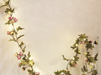 2m 20LEDs Pink Rose Garland Copper Wire Seed Fairy Lights - Warm White