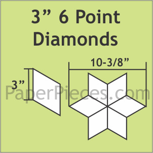 "3"" 6 Point Diamond 600 Paper Pieces"