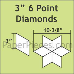 "3"" 6 Point Diamond 600 Paper Pieces"