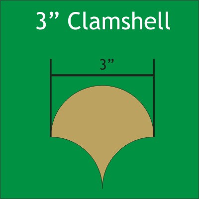 "3"" Clamshell Paper Pieces 180 pack CLAM300L"