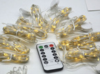 3 Colours USB 3x3m 300 LEDs  Warm White and Cool White Interchangeable with Remote Control