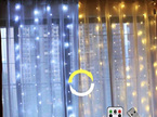 3 Colours USB 3x3m Curtain Lights Warm White and Cool White Interchangeable with Remote Control