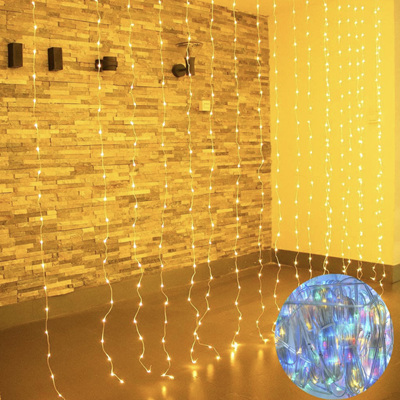 3 Colours USB 3x3m Curtain Lights Warm White and Multicolour Interchangeable with Remote Control