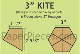 "3"" Hexagon Kite - 360 Pieces"