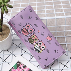 3 Owl Wallet - Purple