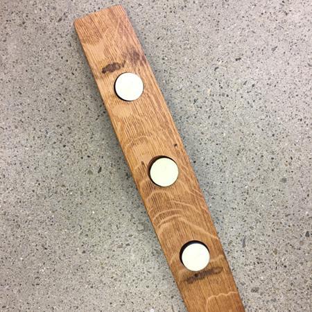 3 Tea Light Candle Holder - Oak Wine Barrel