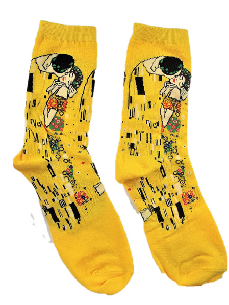 "Art Socks: ""The Kiss"" by Klimt"