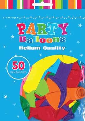 30cm Balloons assorted pack of 50