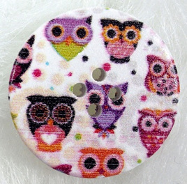 30mm Wooden Button: Little Owls **Buy 5 for the price of 4**