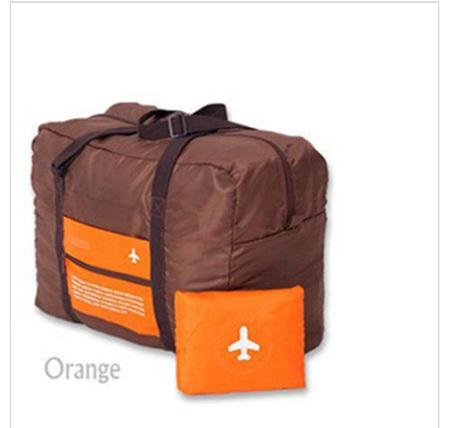 32L Orange & Brown Luggage Bag